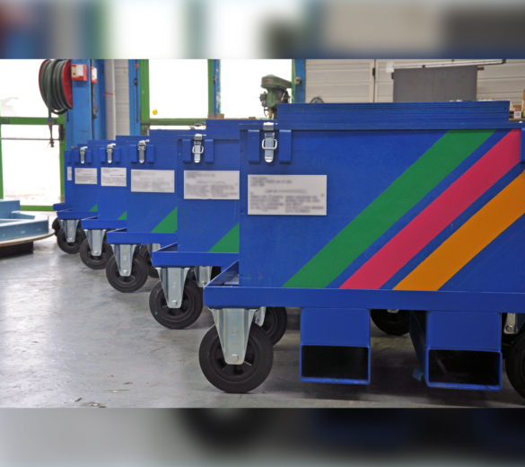 Transport tooling - trolley for aeronautic fittings - ORATECH