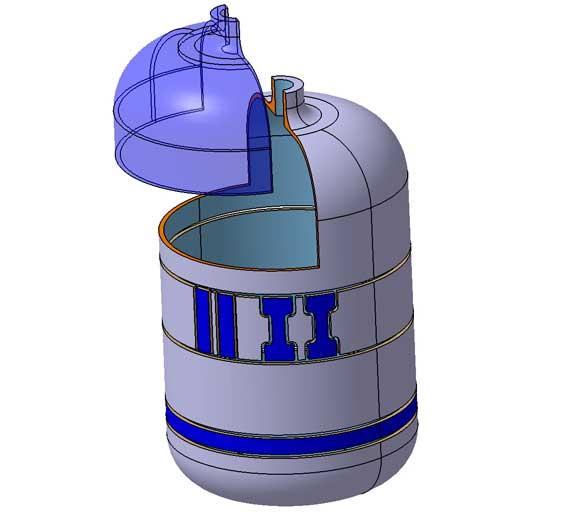 usinage éprouvette réservoir hydrogène